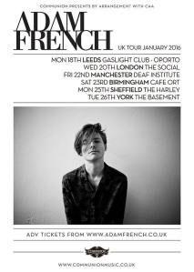Adam French 2016 UK tour