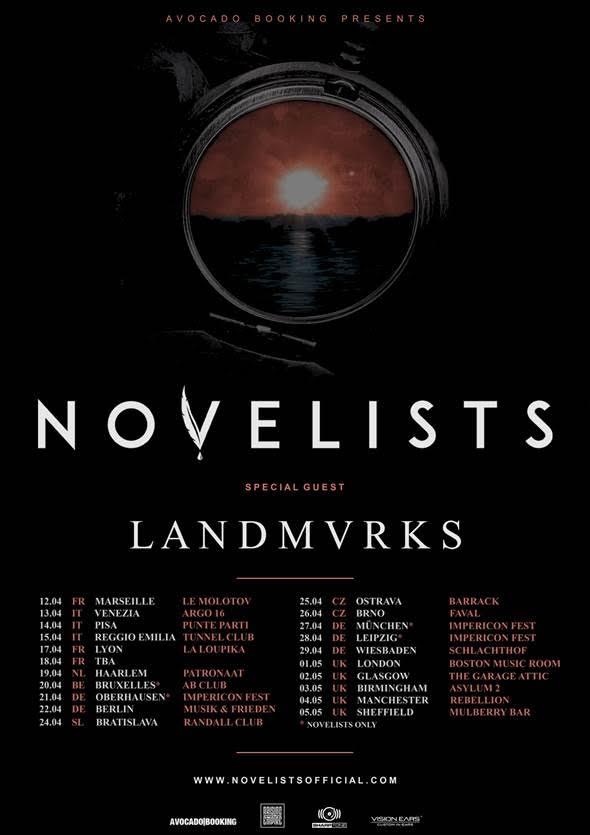 Novelists 2018 uk tour